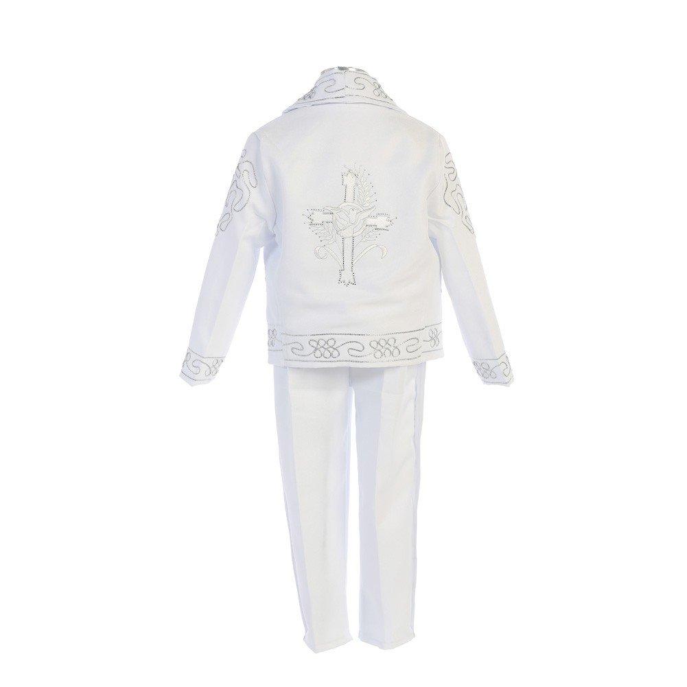 Angels Garment Baby Boys White Dove Cross Motif Charro Baptism Outfit 12-18M