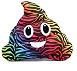 Emojicon Animal Print Poop Pillows (zebra)