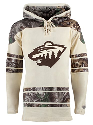 (Old Time Hockey NHL Minnesota Wild Zach Parise Men's Realtree Lacer Name & Number Hoodie, X-Large, Multi Color)