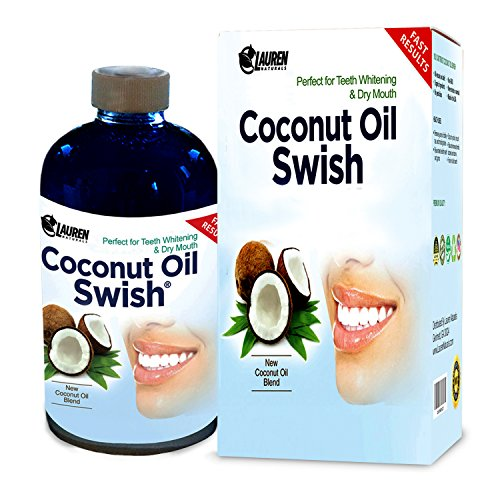 Coconut Oil Pulling and Mouthwash: Excellent for Teeth Whitening, Dry Mouth, & Oral Detox - Helps Resolve Bad Breath and Removes Tea & Coffee Stains on Teeth - Risk Free Money Back Guarantee (Advanced Oral Moisturizer Spray compare prices)