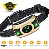 GYM Bark Collar with Breathing Light - Dog Bark Collar with Beep Vibration Harmless Shock - Humane No Bark Collar Small Dogs Medium Large Dogs