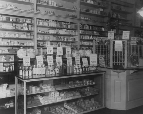 Interior of Peoples Drug Store, No. 9, 31st and M Streets, Washington, D.C., - Washington M Street