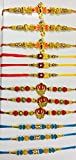 WerKens Handmade Rakhi for Brother - Set of 12 Rakhis