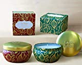 LA JOLIE MUSE Scented Candles Set 2 Cinnamon Pumpkin & Cedarwood Fir, Natural Soy Wax, Fall Winter Gift Collection