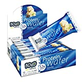 Novo Protein Energy Wafer Bar | 12g of Protein Workout Recovery | 12 Bar Pack (Vanilla) Review