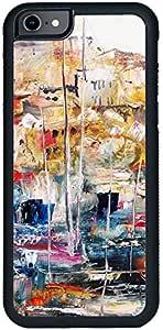 ديكالاك كفر حماية لهاتف ايفون 8، بتصميم لوحة زيتية لبورت في جزيرة ليسبوس