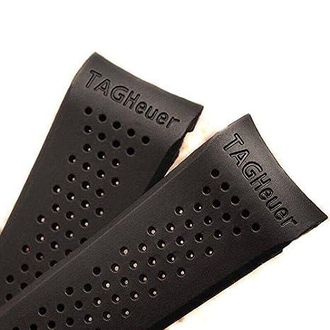 Correa de repuesto para reloj TAG Heuer, en plástico negro, 22/20 mm: Amazon.es: Relojes