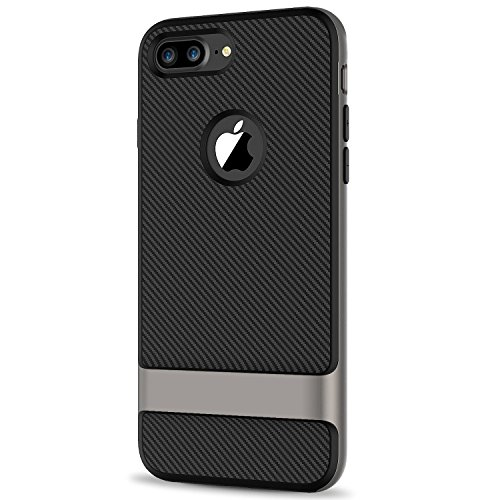 JETech Case for Apple iPhone 7 Plus, 5.5 Inch, 2-Layer Slim Protective Cover, Shock-Absorption and Carbon Fiber
