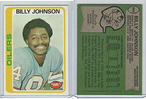 1978 Topps Football, 390 Billy Johnson