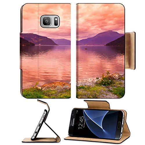 Liili Premium Samsung Galaxy S7 Flip Pu Leather Wallet Case Sunset In Fjord Hardanger Norway Nature And Travel Background Image Id 39021222
