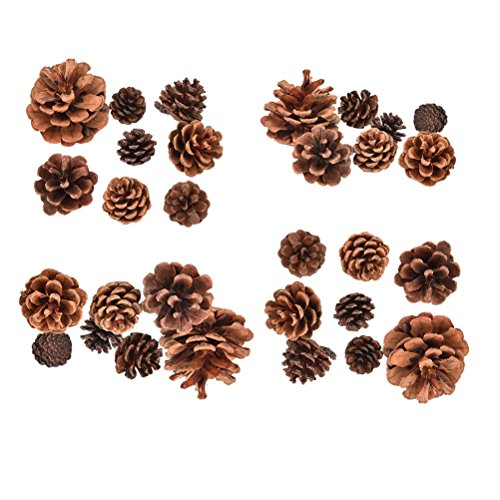 Buytra 30 Pack Christmas Pine Cones Ornaments for Xmas Tree Party Decorations Craft