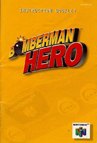 nintendo 64 bomberman hero instruction booklet nus nbde usa rh amazon com Nintendo NX nintendo 64 user manual pdf