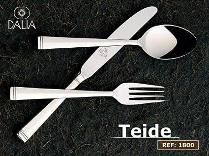 CUBERTERÍA 24 PZAS.MODELO TEIDE DE DALIA CON CUCHILLO CHULETERO Y ESTUCHE