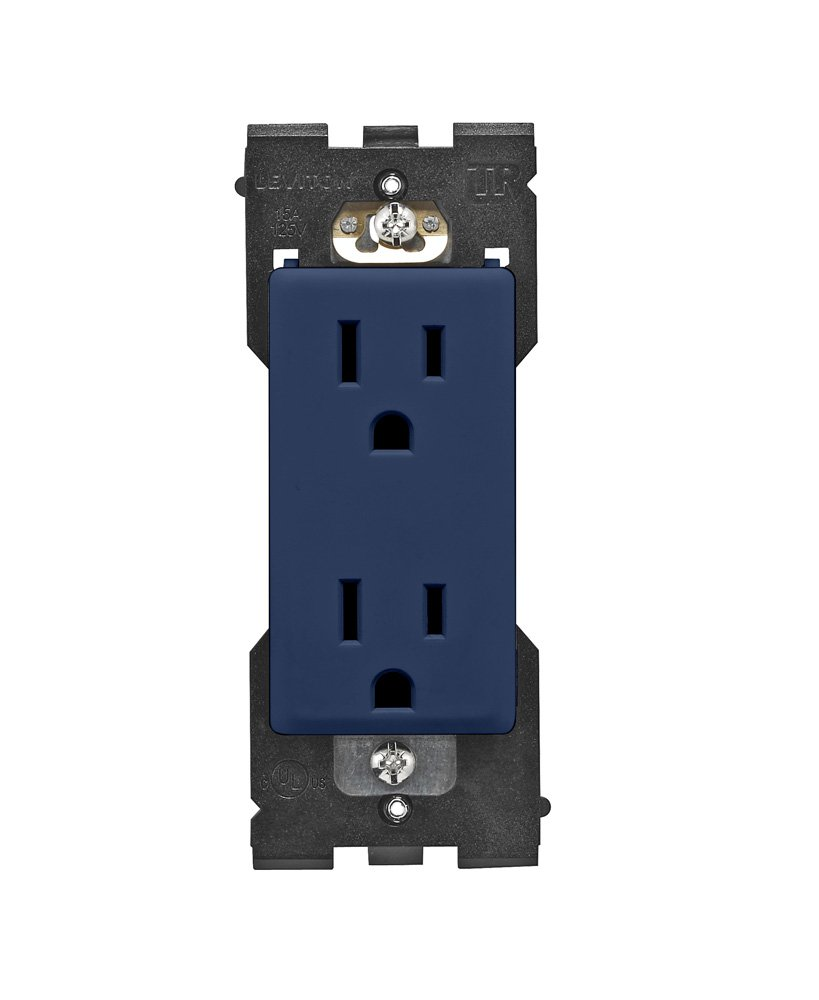 Leviton RER15-RN Renu Tamper-Resistant Outlet, 15-Amp, 125VAC, Rich Navy by Leviton