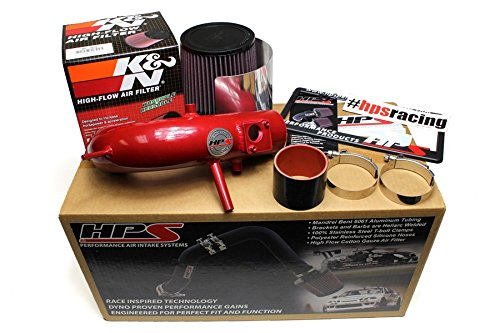 HPS 27-524P Polish Short Ram Air Intake Kit with Heat Shield Non-CARB Compliant