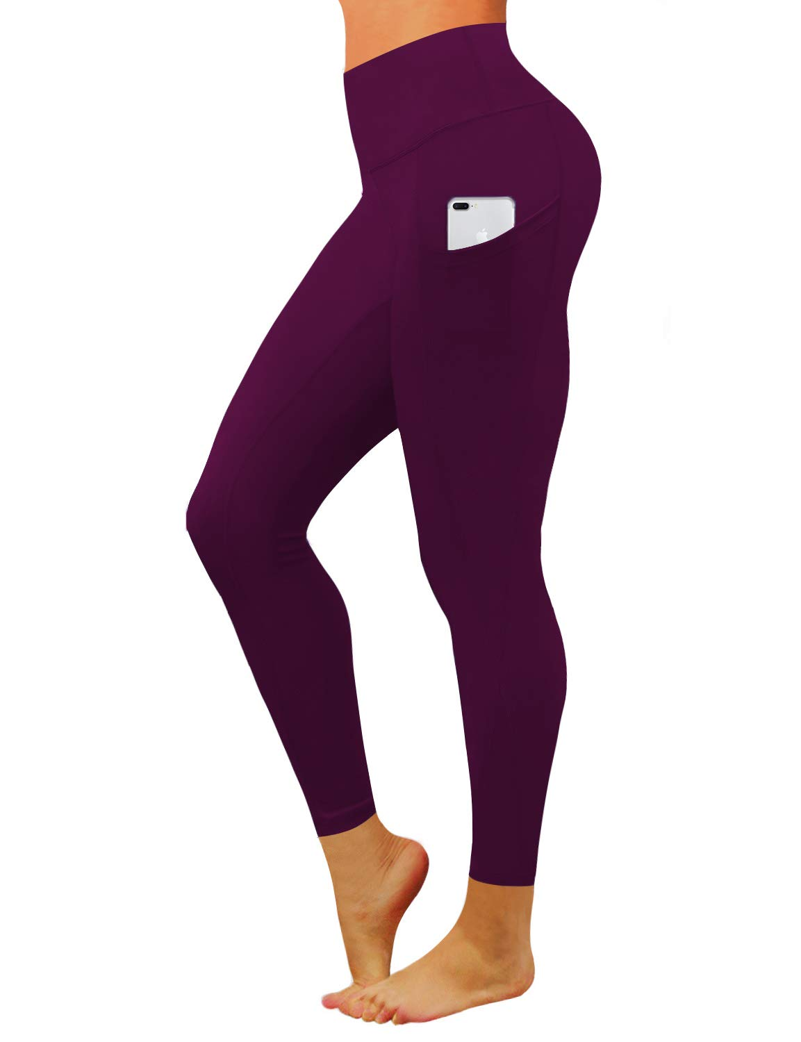 BUBBLELIME 22''/26''/28'' Inseam High Compression Yoga Pants Out Pocket Running Pants High Waist UPF30+