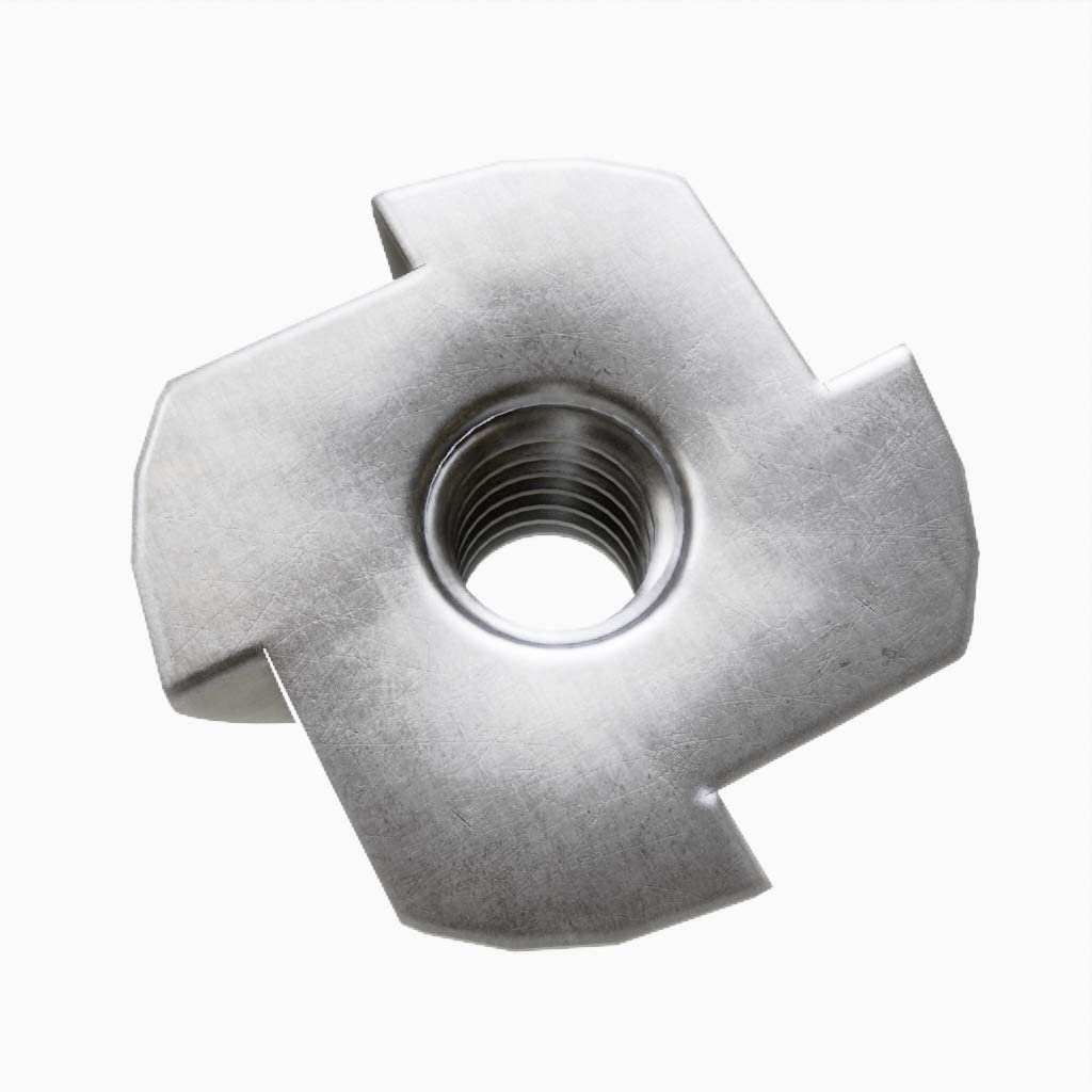 100 T-Nuts Pronged Tee Nuts Zinc Plated 8 x 11