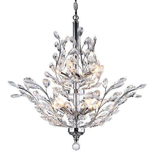 Branch of Light 10 Light Chrome Chandelier with Clear European Crystals Review