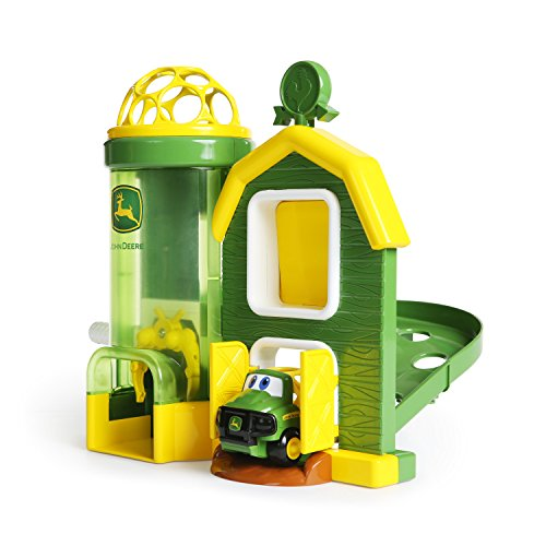 Oball Go Grippers John Deere Rev Up Barnhouse Playset and Push Vehicle, Ages 12 months + ()