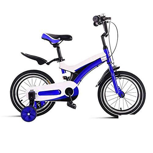 Blau Axdwfd Kinderfahrräder 12-Zoll-Kinderfahrräder, Kinderfahrrad aus Kohlenstoffstahl mit Trainingsrad für 2-4 Jahre alte Jungen und Mädchen