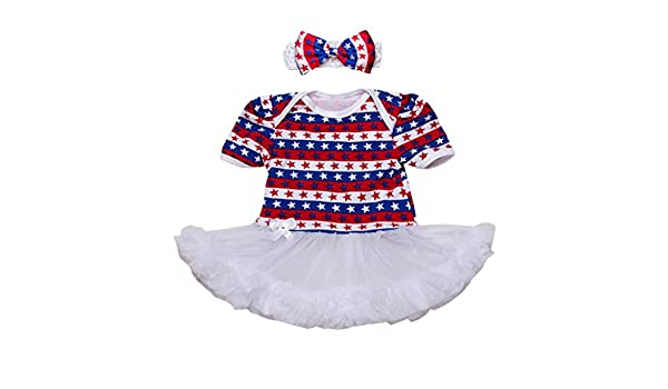 Amazon.com: ShiTou Girls Dress&&American Star Headband+Dress Party Dress//Princess Dress (White, 59): Clothing