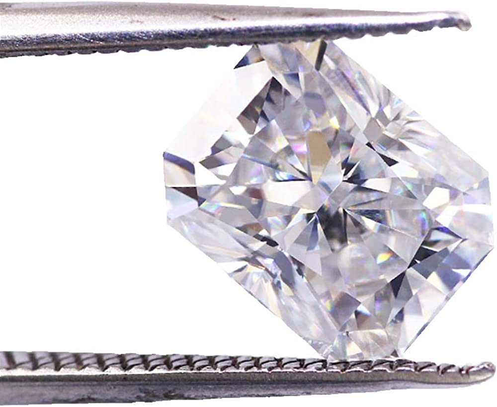 0.2CT to 10CT radiant cut lab Gifts ice OFFicial store best gr crushed moissanite