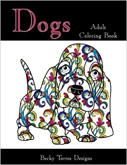 Amazon Dogs Adult Coloring Book 9781517140984