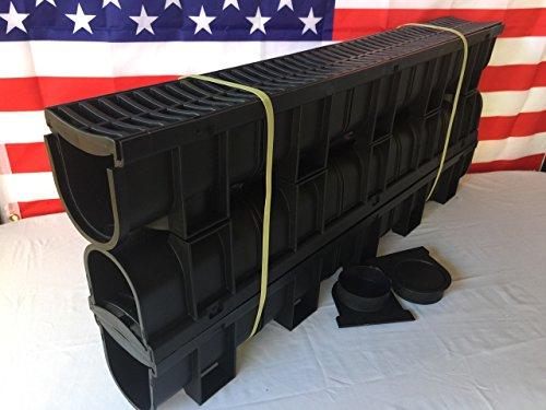 Regular Black Polymer - 3 x 3.33 Ft (10ft) Pack with 1 End Cap & Adaptor