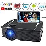 Wireless Projector 2200 Lumen, WEILIANTE WiFi LCD Mini Movie Projector for Home Outdoors, Full HD Portable, WiFi Directly Connect with Smartphones, 50,000 Hours Lamp Life, Support HDMI,VGA,AV,USB,SD