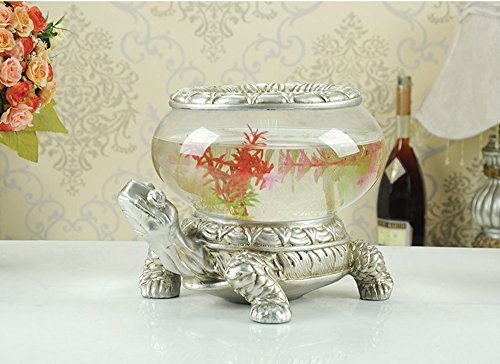 Fly European Creative Fish Tank Crafts Living Room TV Cabinet Home Decorations Ornaments Home Decorations (Color : B)