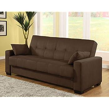 pearington mia microfiber sofa sleeper bed u0026 lounger with storage java