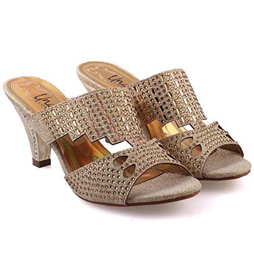 Slipons Or Femmes Candice Unze ' Sandales Mode de Unze Sandales tqn6xHg