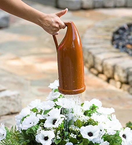 Glazed Terra Cotta Thumb Pot Watering Jug, 5 L x 4.75 W x 12 (Qts Terra Cotta)