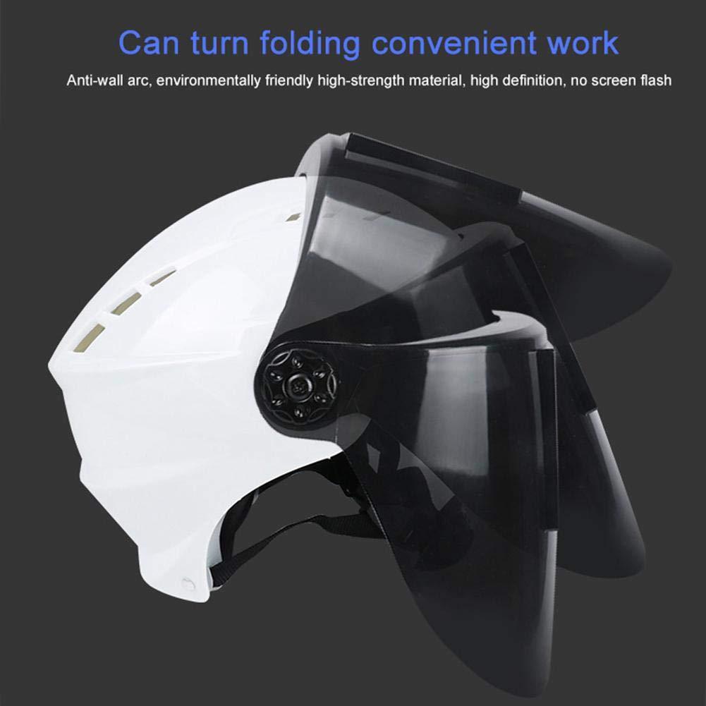 Hamkaw 2 en 1 Máscara Soldar Automática/Casco de Seguridad,Careta Soldadura de Oscurecimiento Máscara del Rango de Sombra Ajustable 4/9-13 para ARC TIG Mig ...