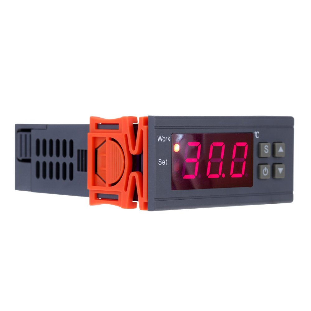 KKmoon 90~250V 10A Digital Temperature Controller Thermocouple -50~110 Celsius Degree with Sensor