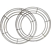"""Metal Wreath Ring Wire Frame for Floral Arrangements 14"""" Set of 2"""