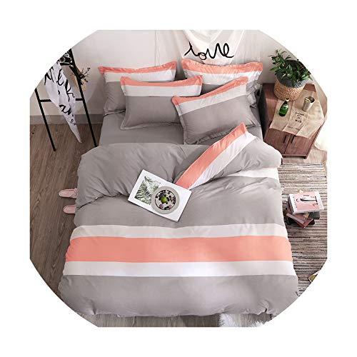 QianQianStore Home Textile Black Lattice Duvet Cover Pillowcase Bed Sheet Simple Boy Girls Bedding Sets 3/4Pcs Single Double Bedlinen,5,Twin -