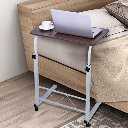 Huangou Home Office Chair Can Be Lifted and Lowered Mobile Computer Desk Bedside Table (23.6×15.7inch, Red) ()
