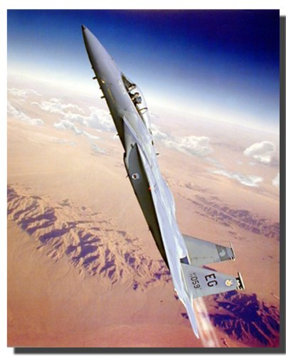- Wall Decor Military McDonnell Douglas F-15 Eagle Fighter Jet Aircraft Art Print Poster (16x20)
