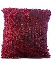 وسادة القطيفة 45 × 45 سم من ترف- عنّابي