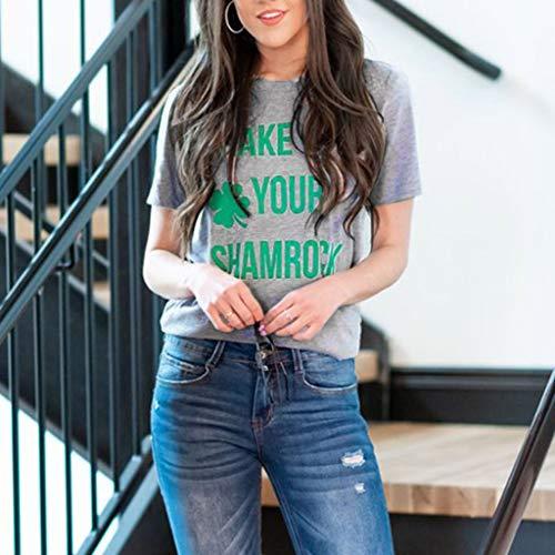 Corta Gris Jiameng Manga Camiseta Que Con Ropa Blusa Estampado San Adelgaza Básica 2 Camisetas Algodón De Día Patricio Del Casual Tops rvHrq