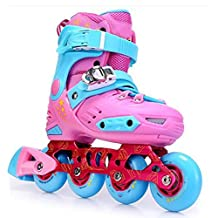 HARD SHELL ROLLER INLINE SKATES SHOES WITH ABEC-7 AND PU WHEELS PINK FOR CHILDREN