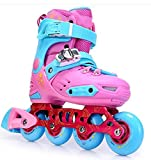 Inline Skates Adjustable Abec-7 PU Wheels , pink , middle