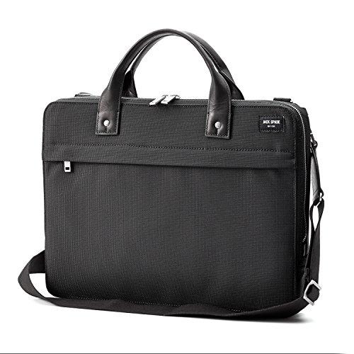 Jack Spade Men's Black Luggage Nylon Slim Brief - Slimline Laptop Brief Bag