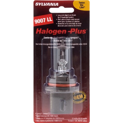 Sylvania 9007 LL Long Life Halogen Replacement Bulb (Low/High Beam), (Pack of 1)