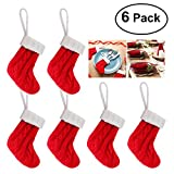 Unomor Christmas Cutlery Holders, Cute Socks Design Christmas Silverware Holder, 6 in One Pack
