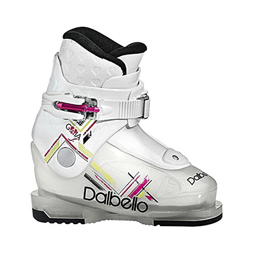 Dalbello Gaia 1 Jr Ski Boots Girls' Transparent/White (Jr Kids Ski Boot)