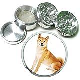 Dog shiba inu 02 4Pc Aluminum Grinder