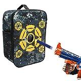 nerf bullet carrying bag - Target Pouch Storage Carrying Case, Double Shoulder Equipment Bag for Nerf Guns Darts N-strike Elite / Mega / Rival Series