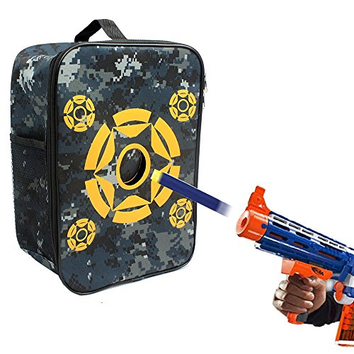 Target Pouch Storage Carrying Case, Double Shoulder Equipment Bag for Nerf Guns Darts N-strike Elite / Mega / Rival Series